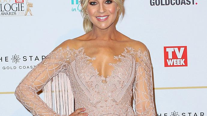 Pregnant Carrie Bickmore glows on the red carpet at the 2018 TV WEEK Logie Awards
