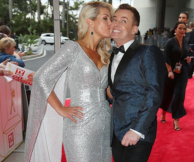 Love these two: Grant and Cheryl Denyer loved up on the red carpet.