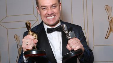 Grant Denyer wins the Gold Logie at the TV WEEK Logies - and chokes up during his speech