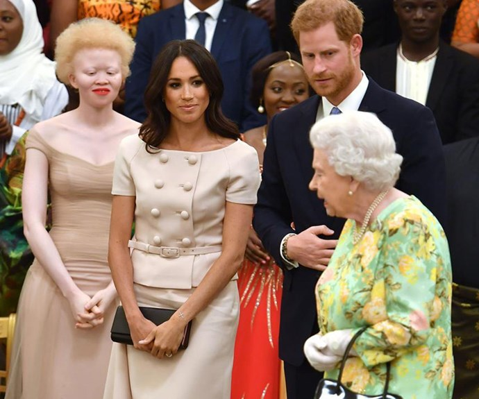 Hands off! Prince Harry and Meghan Markle won't hold hands in front of the Queen