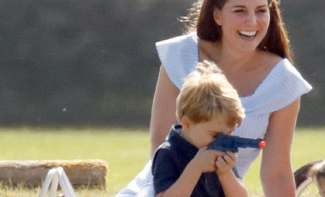 Prince George plays with gun at Beaufort Polo Club