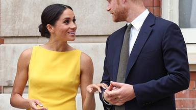 Meghan Markle steps out in a surprisingly bright dress