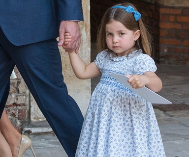 Princess Charlotte puts photographers in their place at Prince Louis' christening