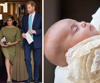 Prince Harry and Meghan Markle and Prince Louis