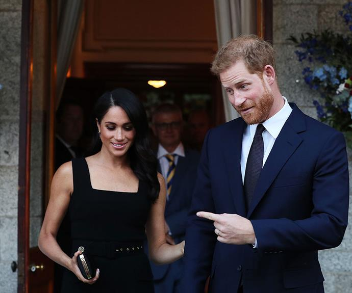 Prince Harry isn't afraid to show off his stunning wife.