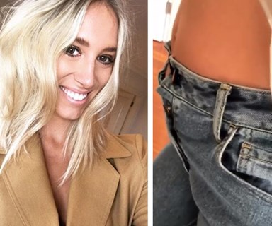 Phoebe Burgess' genius pregnancy clothing hack costs almost nothing and looks amazing!