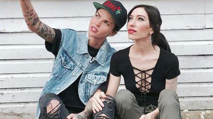 Ruby Rose gives her new girlfriend a shout out on Instagram