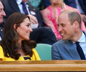 Prince William and Duchess Kate couldn't look more smitten as they attend Wimbledon men's finals