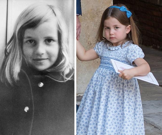 Princess Diana and Princess Charlotte