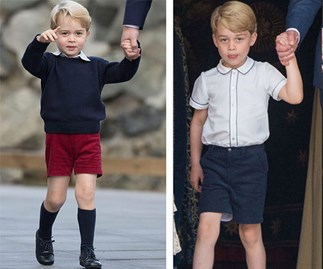 Why does Prince George only wear shorts?