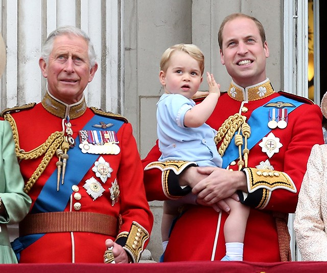 Three for the price of one! Unseen photo of Prince Charles, Prince William and baby Prince George