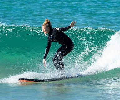 EXCLUSIVE PICS: Sam Frost surfs with boyfriend Dave Bashford