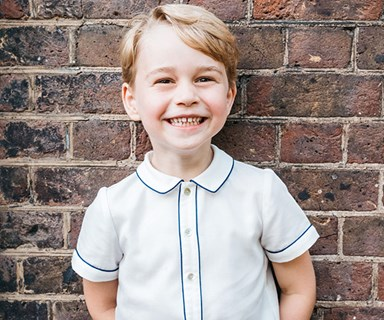 His Royal Cheekiness! Prince George beams in stunning new birthday photo