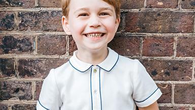 His Royal Cheekiness! Prince George beams in stunning new birthday photo