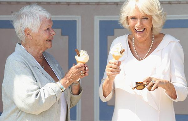 Duchess Camilla and Dame Judi Dench eating ice cream is the greatest thing you'll see today