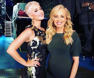 Carrie Bickmore and Katy Perry