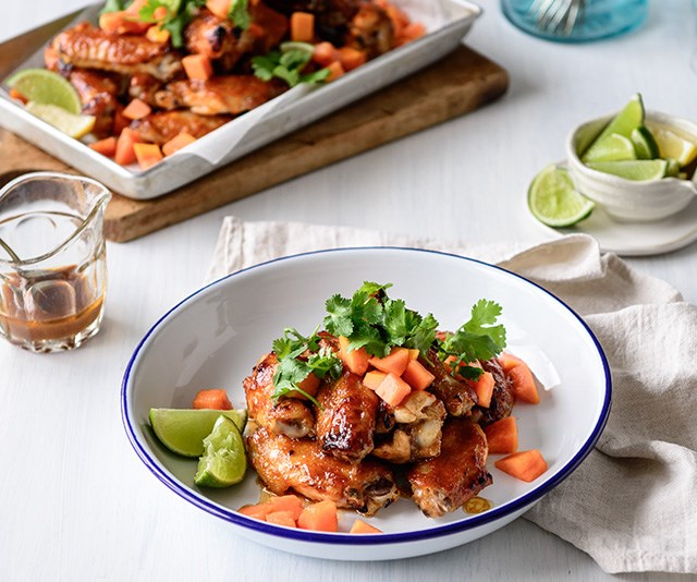 How to make sticky papaya chicken wings