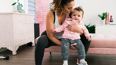 EXCLUSIVE: Snezana Markoski's workout with baby Willow