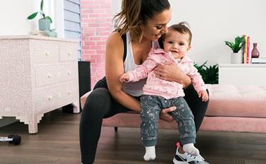 EXCLUSIVE: Snezana Markoski's workout with baby Willow