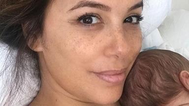 Hello baby Bastón! Eva Longoria shares the first photos of her precious newborn