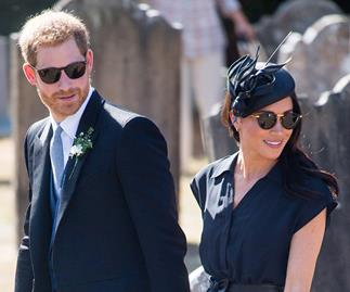 Duchess Meghan was in good spirits as she attended a wedding with Prince Harry on her 37th birthday