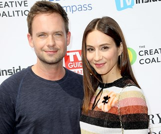 Suits baby on the way! Patrick J. Adams and Troian Bellisario are expecting their first child