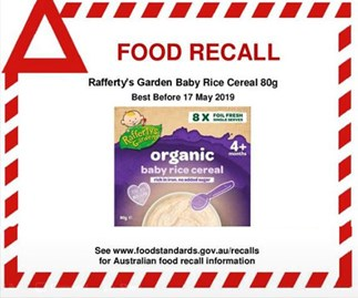 Organic Australian and NZ baby food product recalled due to safety concerns