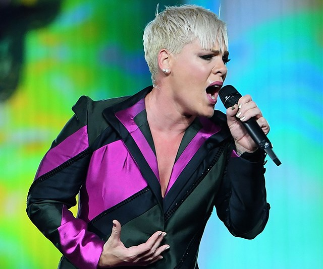 Pink in concert