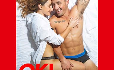 EXCLUSIVE: Grant Crapp and Lucy Cartwright strip for steamy bedroom photoshoot