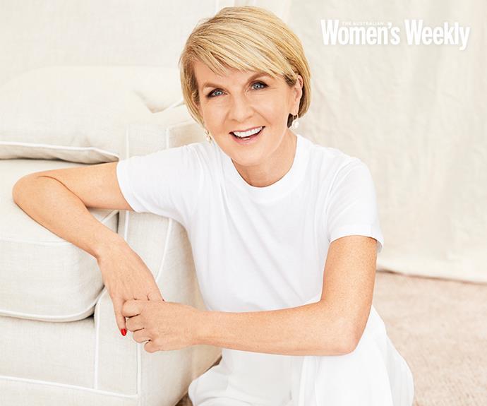 Julie Bishop's exclusive interview is only in *The Australian Women's Weekly*.