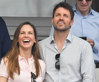 Hilary Swank marries in a secret forest wedding