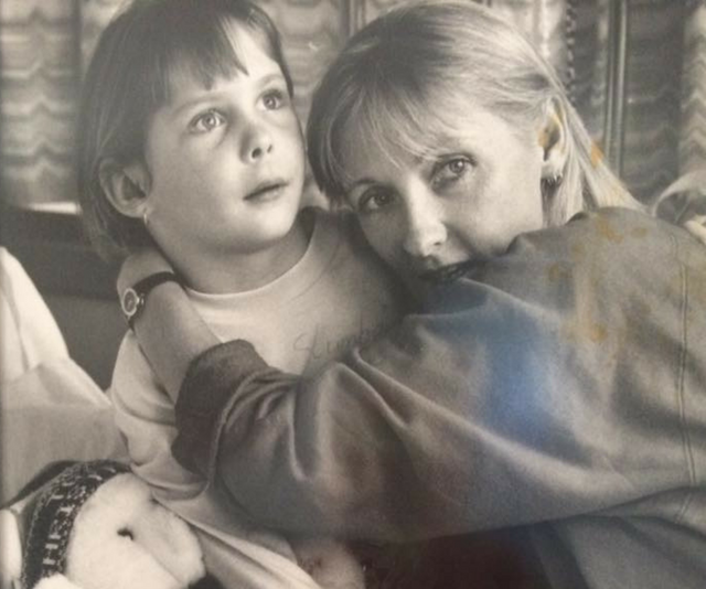Cecily Johnson with daughter Laine Bradley who died, age 12, from SPPE after measles