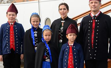 Crown Princess Mary and her family tour the Faroe Islands in traditional Danish outfits