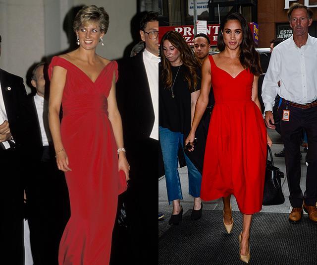 Meghan markle princess diana matching red