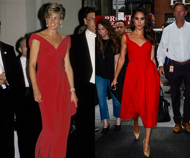 The best twinning moments between Princess Diana and Duchess Meghan