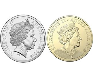 All the jewellery the Queen is wearing on the new Australian coin