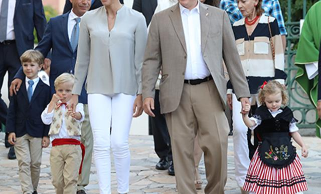 Monaco's adorable royal twins Prince Jacques and Princess Gabriella steal the show!
