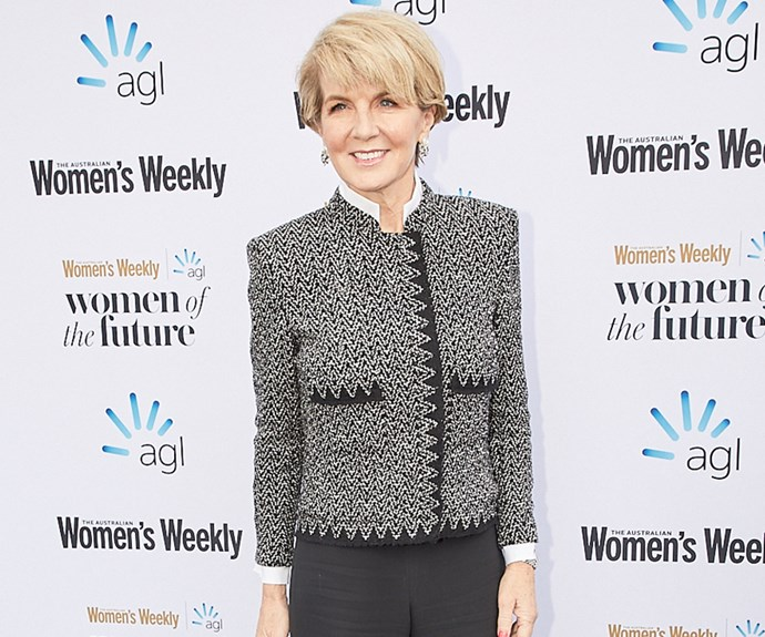Julie Bishop delivers a stirring first public speech since Scott Morrison's appointment to PM