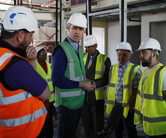 Prince William gets on the tools to help with Grenfell Tower renovations