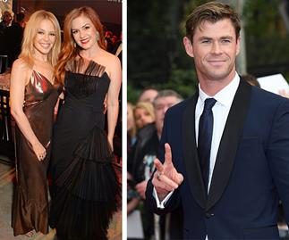 Kylie Minogue, Isla Fisher and Chris Hemsworth fly the Aussie flag high at the GQ Awards