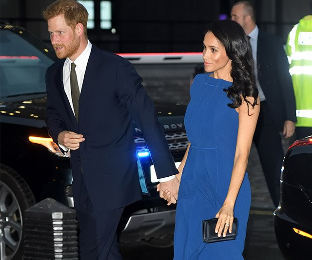 Duchess Meghan and Prince Harry step out in blue at gala event in Westminster