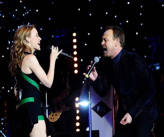 Kylie Minogue and Jason Donovan reunite on stage and send fans into a frenzy