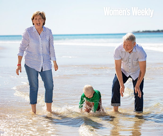 Denise and Bruce Morcombe with their grandson Winston.