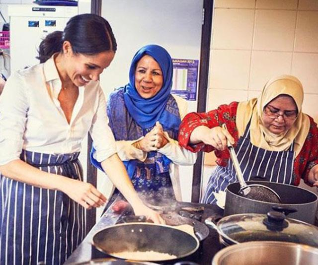 Duchess Meghan knows her way around the kitchen.