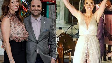 MasterChef's George Calombaris marries girlfriend Natalie Tricarico in glamorous Greek ceremony