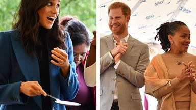 Duchess Meghan delivers poignant speech at charity book launch as mum Doria and Prince Harry watch on