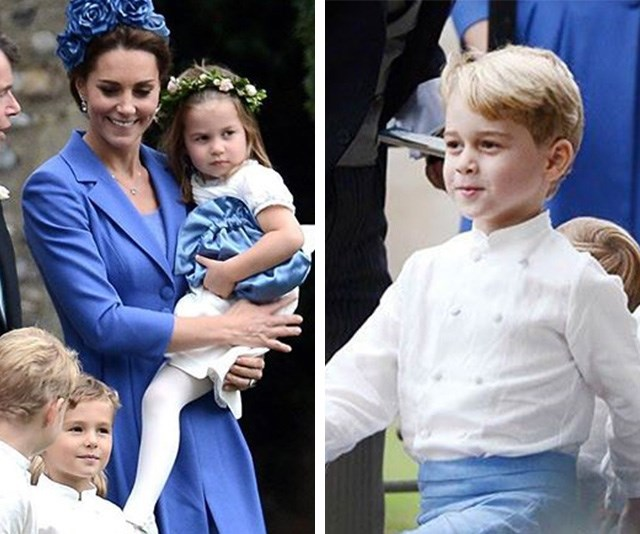 Prince George and Princess Charlotte melt hearts in bridal party at friend's wedding