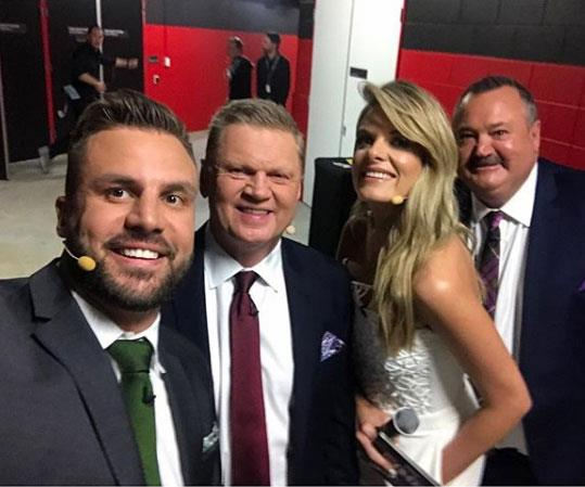 *The Footy Show*'s Beau Ryan shared this photo which Erin re-shared, but comments on her post have since been disabled.