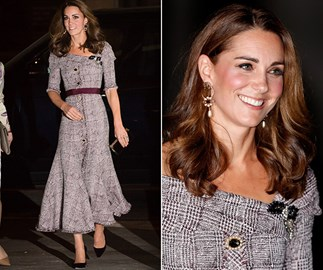 Duchess Catherine has stepped out for a museum soiree in the most stunning Erdem dress