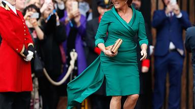 Sarah Ferguson's welcomed back into the royal fold at Princess Eugenie's wedding